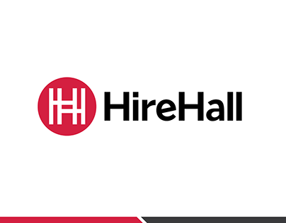 HireHall logo design
