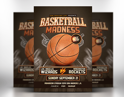 Basketball Madness v2 Flyer Template