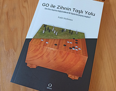 """A book cover design of the traditional game """"GO"""""""