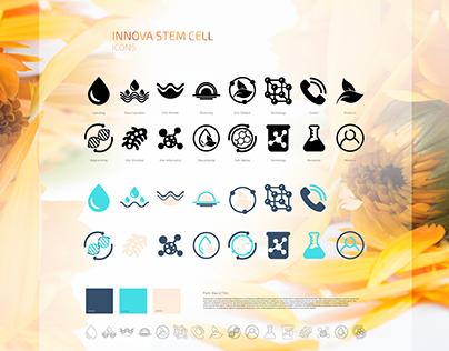Web Icons - Innova Stem Cell Website