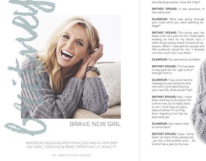 Britney Spears - {mock} Glamour Magazine Layout