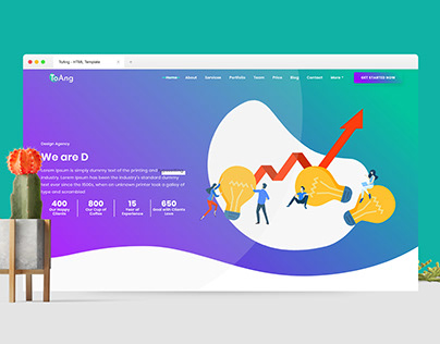 ToAng - Creative Landing Page HTML Template