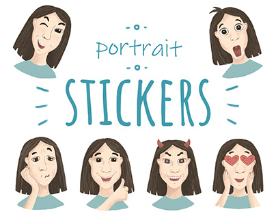 Portrait stickers for Telegram