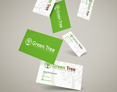 Logo, business card and banner for Green Tree