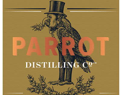 Parrot Distilling Brandmark rendered by Steven Noble