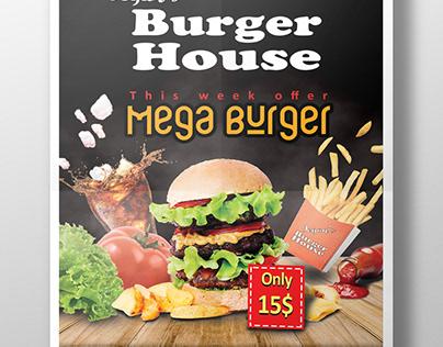 Burger Flyer/Brochure/Poster Design