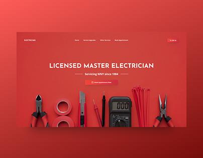Electrician Website Concept