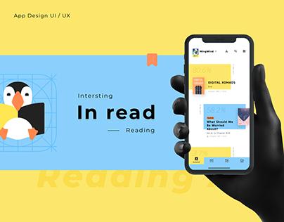 Inread Reading Mobile Application Interface UIUX Design