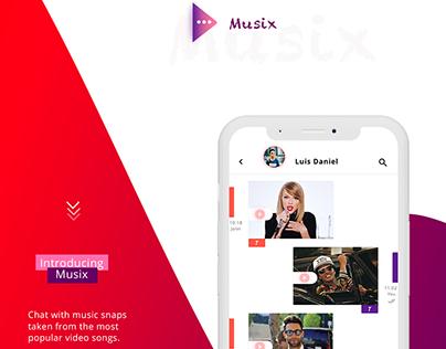 Musix - Mobile App Concept - UX/UI