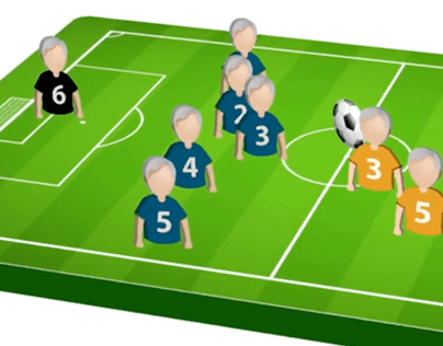 Rules of Walking Football 2D animated