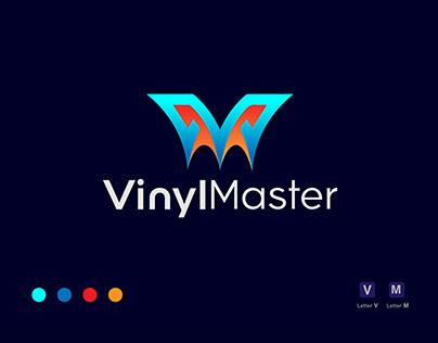 VM letter logo design for VinlyMaster brand