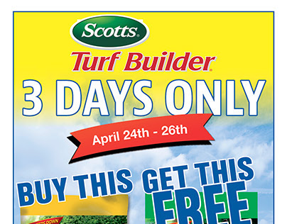 Scotts BOGO Offer 2015
