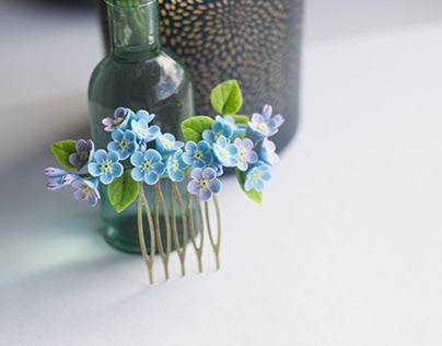 Handmade forget-me-nots