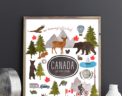 Canada's 150 Years Strong - Print and Fabric Design