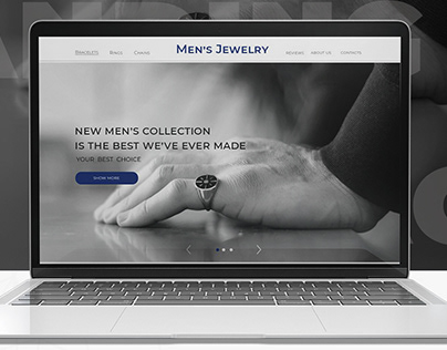 "Landing page ""Men""s Jewelry"""