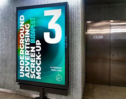 Budapest Underground Ad Screen Mock-Ups 3