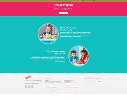 Website Design - Tiny Troopers