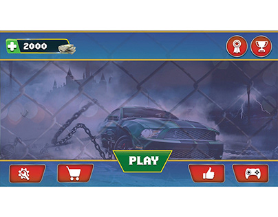 chain cars game ui