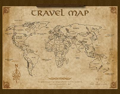 FANTASY TRAVEL MAP