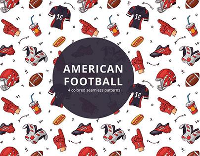 American Football Vector Free Pattern