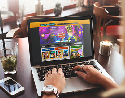 MARIO-GAMES - ONLINE GAMES WEBSITE DESIGN