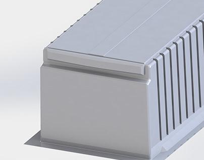 Thermoforming inner/ Tanque termoformado exhibidora
