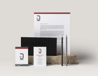 Business Card and letterhead for Ferrari Graniti