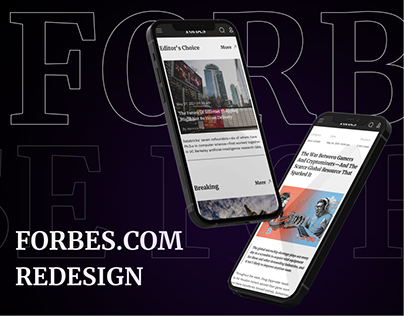 The Forbes — News website redesign