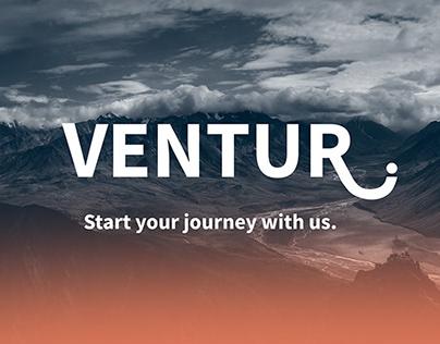 VENTUR. UX Design Mockup - Spring 2018