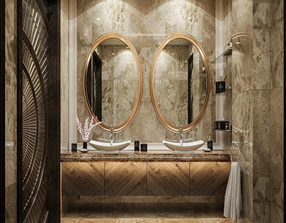 neo classic bathroom