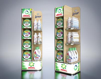 Ariel+Lenor display design. Дизайн мультибренд дисплея