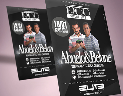 Flyer for Abuelo&Belune Event