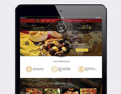 Дизайн сайта и визиток для компании доставки еды.