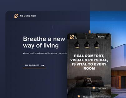 Neverland architecture CMS website
