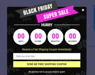 Popup Form | Countdown | by WordPress