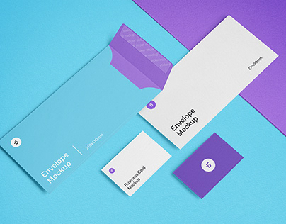 Envelope and Business Card Mockups Free