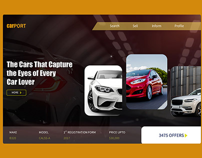 Car Website UI Design