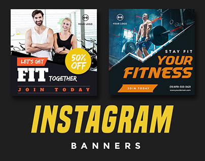 Instagram Fitness and Gym Banners
