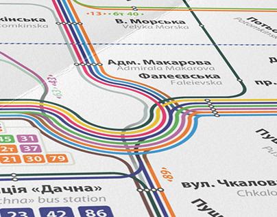 Route schemes: For Mykolaiv city public transport