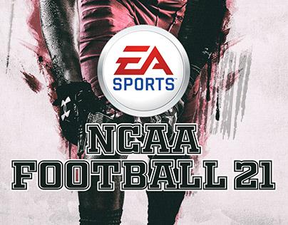 NCAA FOOTBALL 21 concept cover design