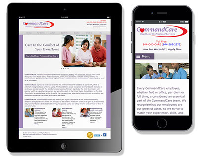 Command Care Web and Mobile Site