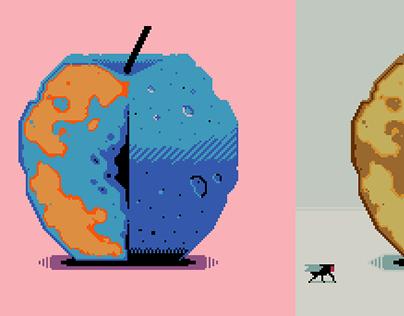 Apple study / Contemporary pixel art.