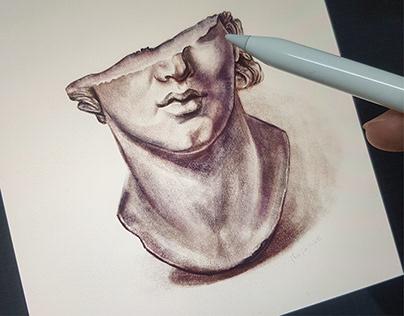Head of youth - digital art