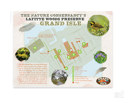 Map for the Lafitte Woods Nature Preserve and Trail