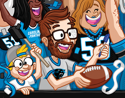 Carolina Panthers Selfie Banner