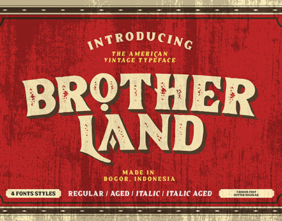 Brother Land - Free Font