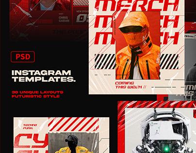 CYBERPUNK Instagram Templates