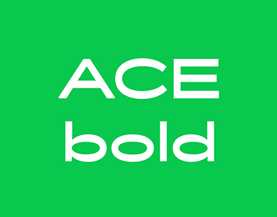 Ace typeface - bold