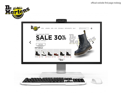 Dr Martens First page redesign