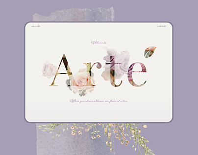 Arte Floral & Event   Logo & Website Design